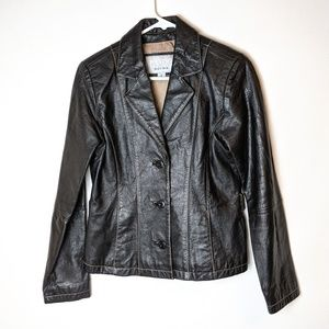 Wilson's Leather Maxima black leather jacket small